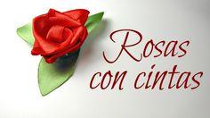 Cómo hacer Rosas con cintas de raso   Flores   Mundo@Party