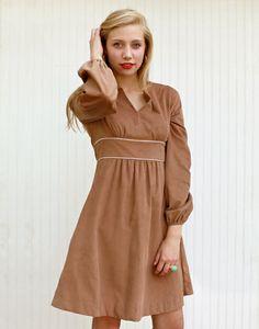 gen dress - NEW! - camel corduroy