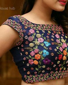 Latest Floral Blouse Designs - The handmade craft - Latest Floral Blouse Designs – The handmade craft - Designer Blouse Patterns, Fancy Blouse Designs, Bridal Blouse Designs, Blouse Neck Designs, Sari Design, Designer Kurtis, Stylish Blouse Design, Festivals, Work Blouse