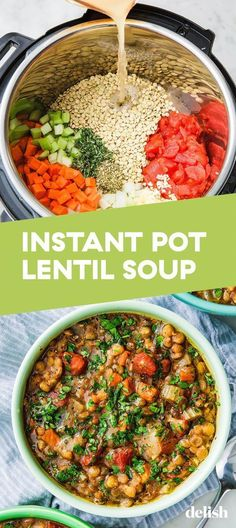 Vegan Recipes Instant Pot Lentil Soup - The ingredients and how to make it please visit the we. Recipes vegetarian Vegan Recipes Instant Pot Lentil Soup - The ingredients and how to make it please visit the w. Healthy Recipes, Soup Recipes, Dessert Recipes, Easy Recipes, Keto Recipes, Healthy Lentil Recipes, Baking Desserts, Healthy Baking, Smoothie Recipes