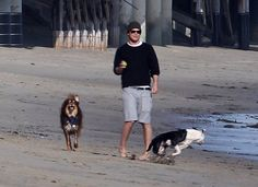 Pin for Later: Hot Hollywood Guys Are Even Hotter When Paired With Pups  In January 2012, Josh Hartnett spent a day at the beach with two adorable four-legged friends in LA.