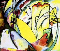 Improvisation 10, 1910Improvisation in drawing and color, suggesting, but never fully delivering any concrete imagery. An early abstract work. - This work is historically important as the first purely abstract watercolor Kandinsky ever executed.