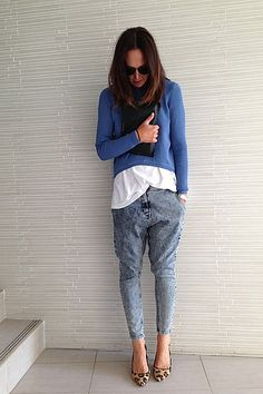 """""""Love this weather! Wearing Scanlan Theodore knit and jeans, Bassike tee, Zara heels, Givenchy clutch."""""""