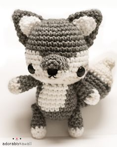 The Baby Wolf Amigurumi Pattern is done! I found some time yesterday to do the color change tutorials. Baby Wolf Amigurumi Pattern (2013):This cute little wolf has jointed arms, legs, and tail! Pattern includes photo tutorial for magic ring & color changes and photos for the embroidery, installing the joints, and assembly. PDF has 19 pages. You will need:♥ G/4.5mm hook ♥ Worsted weight yarn in gray and white. ♥ Black embroidery thread ♥ Pair of 15mm safety eyes ♥ Five 15mm safety eyes (or…