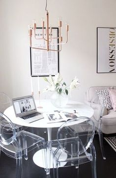 Superbe Make A Small Space Feel Less Overcrowded Using Translucent Acrylic Ghost  Chairs. Barely Visible At The Back, The Acrylic Ghost Chairs Donu0027t Take Up  Much ...