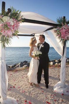 Beautiful wedding in Key West. Key West beach wedding.