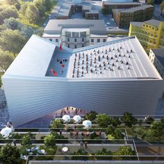 Bjarke Ingels' architecture firm has unveiled its design for a new theatre building in Tirana, Albania, in the shape of a bow tie Cultural Architecture, Theater Architecture, Romanesque Architecture, Museum Architecture, Classical Architecture, Concept Architecture, Sustainable Architecture, Architecture Design, Architecture Graphics