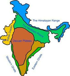 Geography Map, Geography Lessons, Teaching Geography, Physical Geography, World Geography, Teaching History, History Education, India World Map, India Map