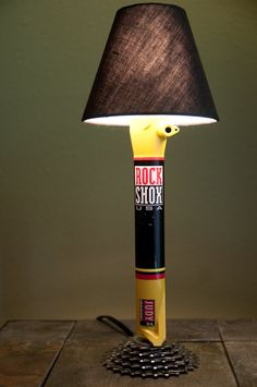 Recycled Bicycle Lamp by ecotreelinedesigns on Etsy, $95.00