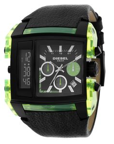 Diesel Watches Men's Black Oversized SBA, o meu preferido Stylish Watches, Luxury Watches, Cool Watches, Unique Watches, Wrist Watches, Diesel Watches For Men, Ring Watch, Watch Sale, Mode Style