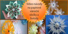 Nápady na vánoční papírové vločky a dekorace | Bystré děti 3d Snowflakes, Paper Art, Halloween, Papercraft, Spooky Halloween