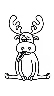 Image Result For Moose Drawing