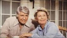 "Jim Davis (Jock Ewing) and Barbara Bel Geddes (Eleanor Southworth Ewing ""Miss Ellie"")  -  Southfork Ranch  -  Dallas"
