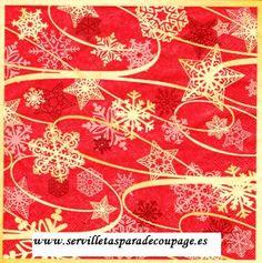 Servilleta estrellas de navidad