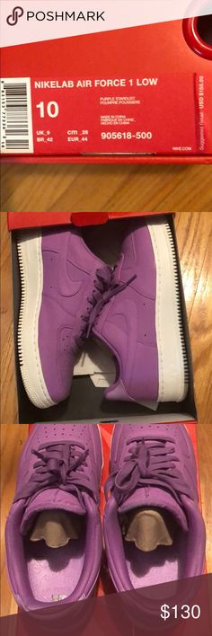 cde02418530c Men s Nike Lab Air Force 1 Low Limited Purple Size 10 Worn VNDS NO TRADES NO