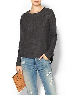 RD Style Mixed Stitch Pullover | Piperlime. Like the back of this and the shape of the shoulder stitching.