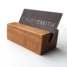 Desk Business Card Holder Wood Business Card by ProductsByJC