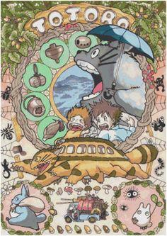 Cross Stitch Pattern ANIME GHIBLI Totoro 18 Ct by SUNSHINEYDAY0630