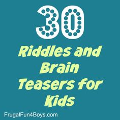 30 Riddles and Brain Teasers for Kids – Jokes Rhyming Riddles, Jokes And Riddles, Riddles Kids, Scavenger Hunt Riddles, Scavenger Hunt For Kids, Brain Teasers For Kids, Kids Brain Games, Brain Teasers Riddles, Camping Jokes