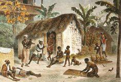 antigamente os escravos que conseguiam fugir das fazendas se reuniam e criavam quilombos que era uma especie de cumunidade para ex-escravos