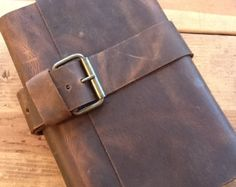 Personalized leather notebook, Leather notebook cover, Men gifts, Leather journal cover, Unique gifts for men, Anniversary gift for him