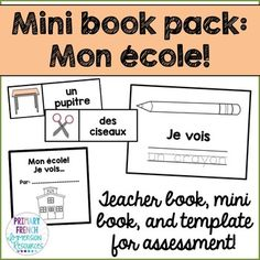 Primary French Immersion Resources: Mon ecole - simple book and word wall cards to introduce school vocabulary French Learning Books, Spanish Language Learning, Teaching French, Teaching Writing, Foreign Language, Dual Language, Learning Italian, Second Language, German Language