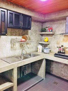Five Important Tips to Optimize Your Basement Design Idea – House Viral Gossip Concrete Kitchen, Kitchen Design Small, Kitchen Decor, Modern Kitchen, Home Kitchens, Stairs In Kitchen, Diy Kitchen, Kitchen Design, Small Kitchen Decor