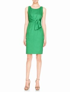 Faux Tie Front Sheath Dress from #thelimited