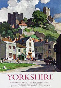 TU10 Vintage Yorkshire Richmond Railway Travel Poster Re-Print A3 A2