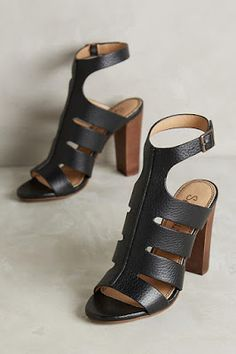 Nina Nuru | Shoes, Bags, Accessories| Discover and shop online: Black caged sandals by Splendid