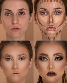 Face Make-up Face Contour Tutorial ? Each woman can do make-up however are you aware Highlighter Makeup, Contour Makeup, Contouring And Highlighting, Eye Makeup, Contour Face, Makeup Contouring Tutorial, Nose Contouring, Eyeshadow Tutorials, What Is Makeup