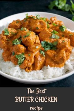 This easy butter chicken recipe Indian style is my take on the classic chicken curry dish that is popular all over the world. With a rich creamy sauce and a fantastic blend of spices, this is one of the must-try easy family dinner recipes. The Best Butter Chicken Recipe, Butter Chicken Rezept, Indian Butter Chicken, Easy Chicken Recipes, Buttered Chicken Recipe, Chicken Recipes Gordon Ramsay, Butter Chicken Spices, Butter Chicken Curry, Gastronomia