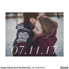 Simple Stylish Save The Date Announcement
