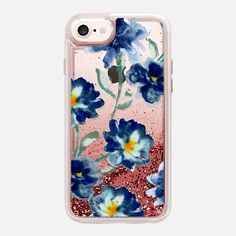 Blue Watercolor Clear Iphone case -