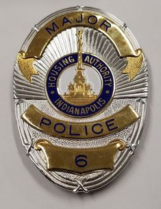 Indiana IN INSP State Police Officer MINI BADGE LAPEL PIN