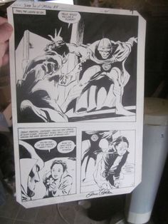 Original Comic Art JEM OF SATURN #4 Page 6 Signed by artist of it Gene Colan DC