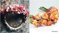 Existen diferentes tipos, tamaños y formas, de flores artificiales, de tela o de flores secas.