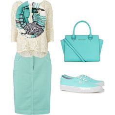 Summer Outfit 2# by modestfashions99 on Polyvore featuring polyvore fashion style VILA Gerry Weber Edition Vans MICHAEL Michael Kors Michael Stars