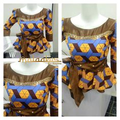 Ankara peplums are so in!Kano based fashion designer Maymunah Anka of MALAABIS_BY_MAYMZ shows more of very stylish and elegant about Ankara peplum tops.And yes to the ruffle and flare of a peplum that accentuates and add curves for that top notch and breathtaking look.The Ankara...