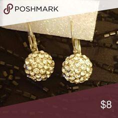 Rhinestone Droplet Earrings Silver & Rhinestone Jewelry Earrings