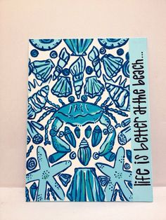 Lilly Pulitzer Sailor's Valentine Handpainted Canvas by TrulaBlu, $15.00