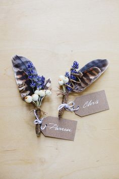Pretty DIYs - Unique Boutonnieres for the Groom - Photos Boutonnieres, Lavender Boutonniere, Feather Boutonniere, Floral Wedding, Wedding Bouquets, Wedding Flowers, Flower Bouquets, Wedding Dresses, Our Wedding