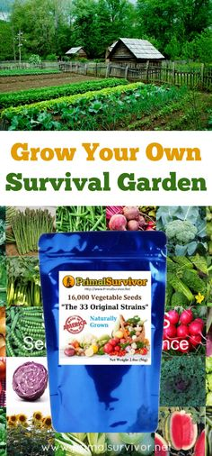 Grow your own Survival Garden Vegetable Seeds. Includes FREE SHIPPING. Spring is finally here and the planting season is just around the corner.  I can't stress enough the value of growing your own food. From a practical point of view you will save thousands of dollars on your shopping bill. Perhaps more importantly (as most gardeners already know), growing your own food has been scientifically proven to reduce stress and improve mental health.