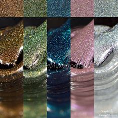 Colour-blocking chevrons with the Licence to Polish collection by simplynailogical