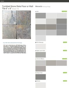 Tumbled Stone Slate Floor Or Wall Tile 6 X Mosaic