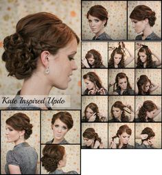 Holiday hair Kate inspired updo