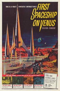 First Spaceship On Venus (1960) After discovering a communications device from Venus containing a message of the impending attack of Earth, an international crew of astronauts and scientists embark on