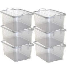 Amazon.com: Life Story Clear Stackable Closet & Storage Box 55 Quart Containers, (6 Pack): Home & Kitchen