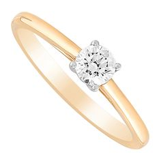 This magnificent ring merges classic yellow gold, contemporary white gold and a dazzling round brilliant diamond for a decadent design. Tulip, Round Diamonds, Fields, White Gold, Engagement Rings, Yellow, Jewelry, Enagement Rings, Wedding Rings