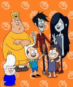 Gravity Falls= Adventure Time